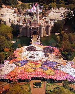 Giant Mickey Mouse Mosaic